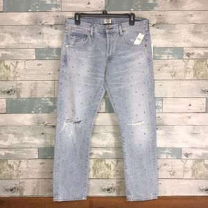 C of H Emerson slim studded jeans NWT #427
